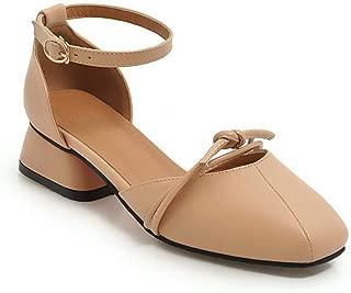 BalaMasa Womens ASL06611 Pu Block Heels