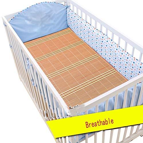 RYHON6 Summer Sleeping Mats Summer Child Bamboo Mat Rattan Mat Kindergarten Student Lunch Break Double Sided Baby Cot Formaldehyde Free, 33 Sizes RYH (Color : A, Size : 60x140cm)
