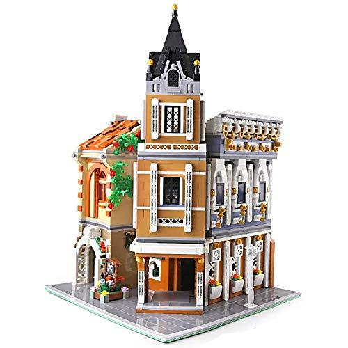 LINANNAN Bloques de construcción de con Kit de luz, Conjunto de Bloques de Edificio de la casa de la Ciudad de la Calle, Conjunto de Modelos de Bricolaje y Juguete de Montaje (3039 Piezas)