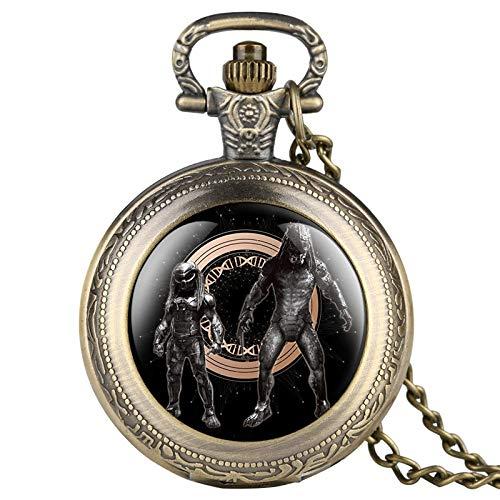 LLXXYY Hombre Mujer Reloj De Bolsillo Vendimia Collar Propósito General, Novedad Predator...