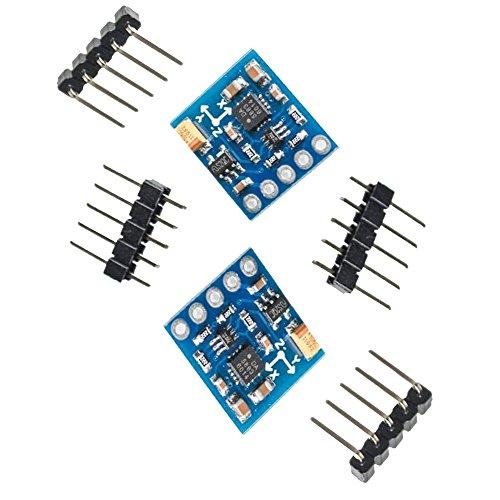 2 Pcs GY-271 QMC5883L Triple Axis Compass Magnetometer Sensor Module Electronic Compass Module Magnetic Sensor Module