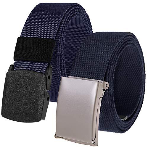 Chalier 2 Pack Cinturon Hombre Lona de Nylon Tela Infinitame