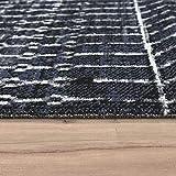Paco Home In- & Outdoor Teppich Skandi Mustermix Terrassen Teppich Schwarz, Grösse:120x170 cm - 2
