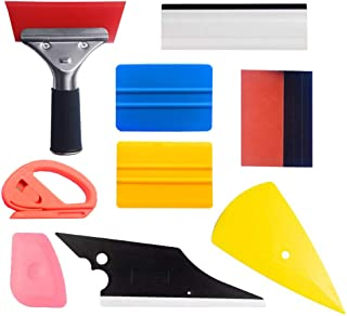 Window Tint Application Tools 10 PCS Vinyl Wrap Kit for Vehicle Film Including Window Squeegee, Scraper, Safety Cutter Knife and Suede/Fiber