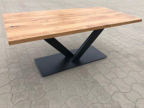 Holzwerk Table chêne massif plateau de 4 cm d'épaisseur 220 x 100
