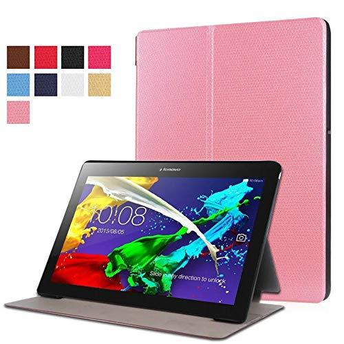 Schutzhülle für Lenovo Tab2 10.1 A10-30F A10-30N A10-30L Smart Cover, Ultra Slim Folio Stand Leder Tasche für Lenovo Tab 2 10 X30F X30M X30N 10.1 Zoll Tablet rose