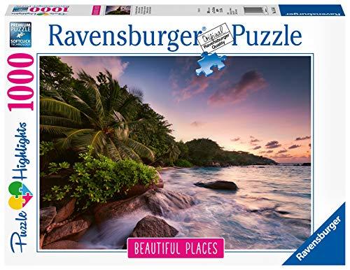Ravensburger- Puzzle de Isla Praslin en Las Seychelles, Color Blanco (15156)