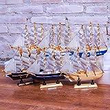 GEEFSU-Modelo de Barco Adorno de Navidad Mini Crucero Colección Barco Pirata Regalo Creativo de Cumpleaños para Decoración de Veleros,20cmsailingcombination