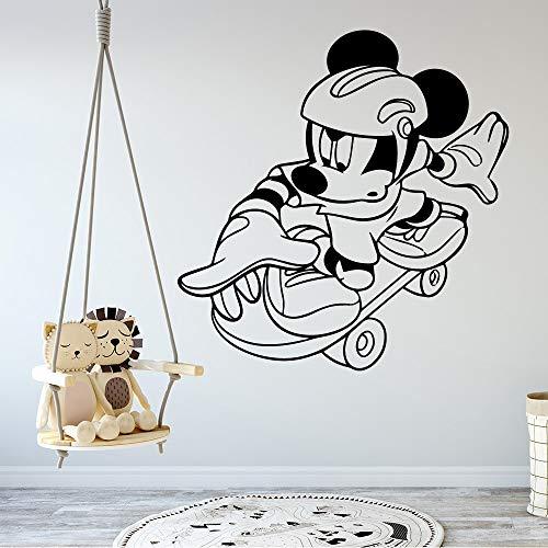 wZUN Kunst Maus Selbstklebende Vinyl Tapete Kinderzimmer Dekoration Wohnkultur Tapete 30x30cm