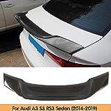 HYNB Schwarzer Auto-Heckspoiler, für Audi A3 S3 RS3 2014-2019 Kofferraumdeckel, Universal Carbon Fiber Modified Roof Extension Lip