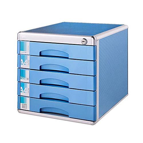YASEking Cellulare Casellario 5 Livelli con Serratura del cassetto Tipo di Strato Desktop da Ufficio Storage Box Semplice File di archiviazione armadi File Archiviare Documenti Organizzatore di Carta