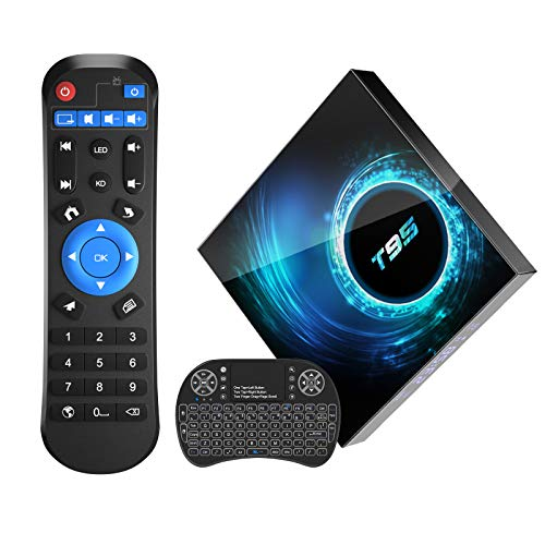 Sidiwen Android 10.0 TV Box T95 Android Box 2GB RAM 16 ROM Allwinner H616 Quad-Core Dual WiFi 2.4G/5G Ethernet Bluetooth 5 Support 3D 6K Ultra HD Smart TV Media Box with Mini Wireless Keyboard