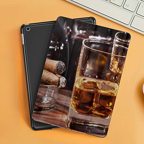 Case for iPad Air 10.2(2019/2018),Whiskey Cigar Iron,Cover with Auto Sleep Wake Feature, Slim Lightweight Stand Protective Case