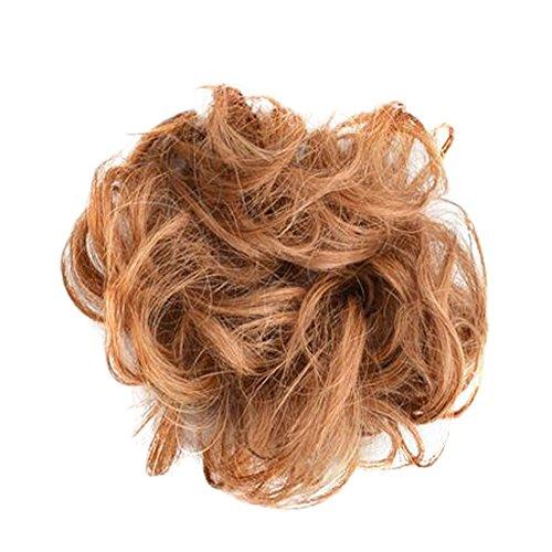 Mesdames élégant Soft Cheveux Bun Extension Scrunchie Chignon, Light Brown