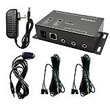 SZBJ IR Repeater,IR Remote Control Extender,Infrared Repeater System (2 Dual Head ir emitter)