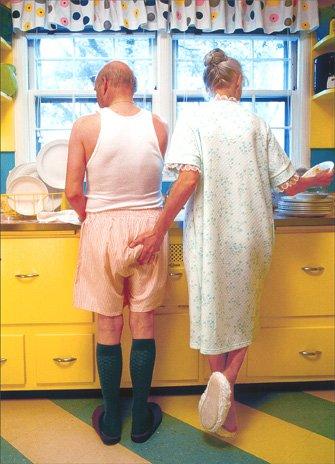 Woman Goosing Husband Funny Birthday Card