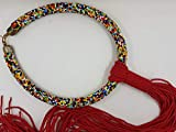 Collar mujer masái con cuentas multicolor arco iris piezas únicas hechas totalmente a mano original Masai África