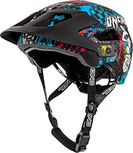 O\'Neal Defender 2.0 Wild Fahrrad Helm All Mountain Bike Enduro MTB Magnet Verschluss, 0502-88, Schwarz, 54-58