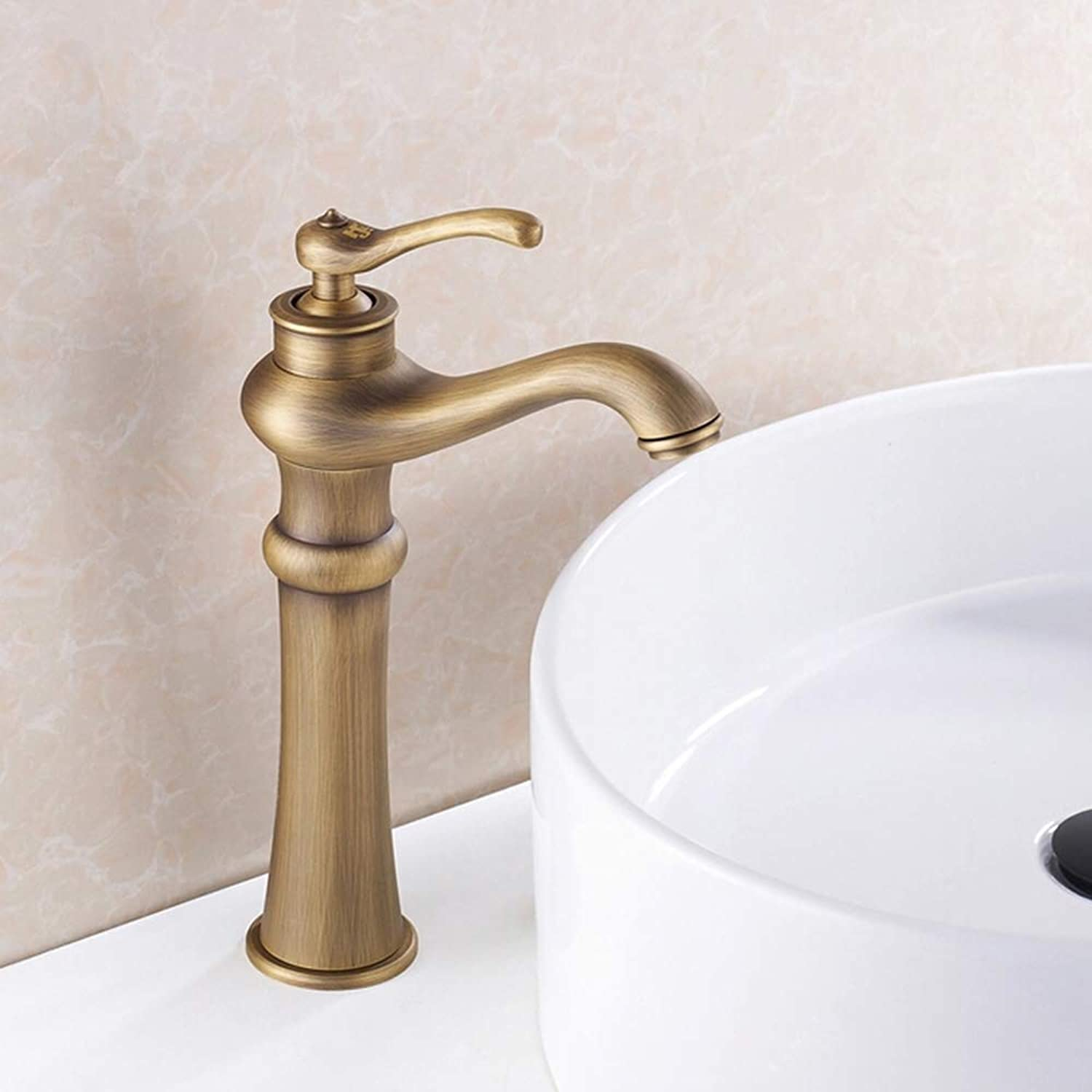 IFELGUD Decoration Bathroom Basin Sink Faucet with Brass Body and Bronze Brushed Surface Mixer Tap