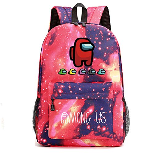 FUFU Among Us Laptop Backpack School Bag for Primary and Middle School Students Multiple Pockets can be Used for School/Business/Work/Men/Women'S Backpack Men'S and Women'S Unisex Backpack/D