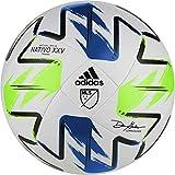 adidas Unisex-Adult MLS Training Ball, White/Solar Yellow/Power Blue, 5
