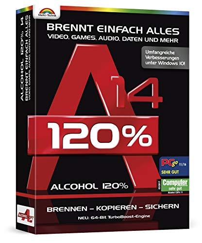 Alcohol 120% Version 14 - Brennen - Kopieren - Sichern - Virtuelle Laufwerke erstellen für Windows 10, 8.1, 7
