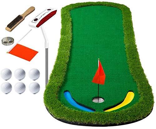 ZHEYANG Titular de Interior al Aire Libre de Formación Práctica de Golf Campo de Alfombra de su casa con Las Bolas y Putter (Color : Green)