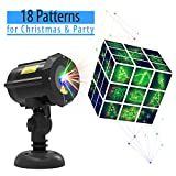 Laser Light,Christmas Laser Lights with 18 Patterns [Christmas tree, Santa Claus] LED Projector Spotlight Star Motion Shower with RF Remote Controller for Xmas, Holiday, Party, Garden Decoration