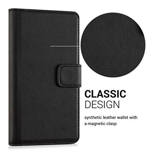 kwmobile Huawei GR3 / P8 Lite SMART Hülle - Kunstleder Wallet Case für Huawei GR3 / P8 Lite SMART mit Kartenfächern und Stand - Schwarz - 2