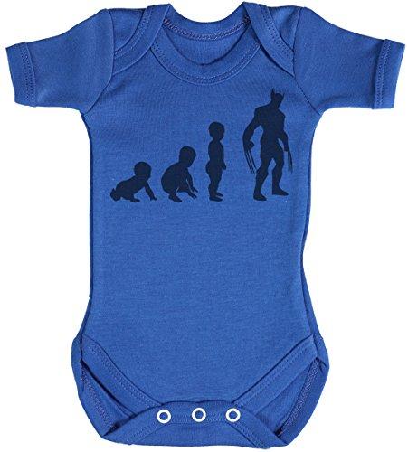 Baby Evolution to A Wolveine Body bébé - Gilet bébé - Body bébé Ensemble-Cadeau - Naissance Bleu