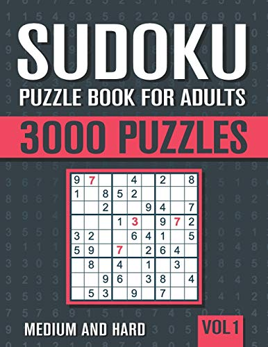 Compare Textbook Prices for Sudoku Puzzle Book for Adults: 3000 Medium to Hard Sudoku Puzzles with Solutions - Vol. 1  ISBN 9798647453877 by books, visupuzzle