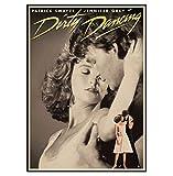 QINGRENJIE Wandkunst Bild Dirty Dancing Filmplakate Vintage