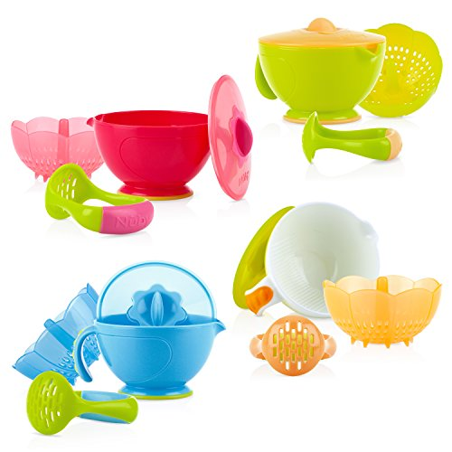 Nuby Garden Fresh Steam N' Mash Baby Food Prep Bowl and Food Masher,...