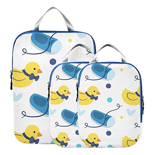 Montoj Zapatos de bebé de pato amarillo, cubos de viaje, juego de...