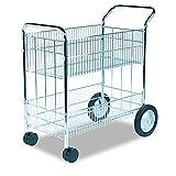 Fellowes 40912 Wire Mail Cart, 21-1/2w x 37-1/2d x 39-1/4h, Chrome...