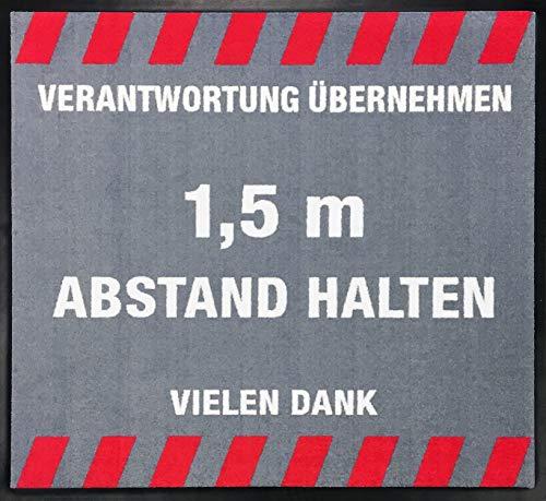 Emco Tapis de signalisation « Distance Maintenir » 90 x 90 cm