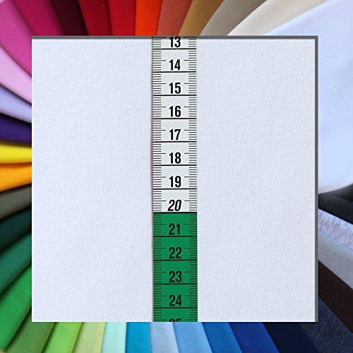 0,25 m Bündchenstoff Bündchen Schlauchware XXL extrabreite 140cm - (Weiß)