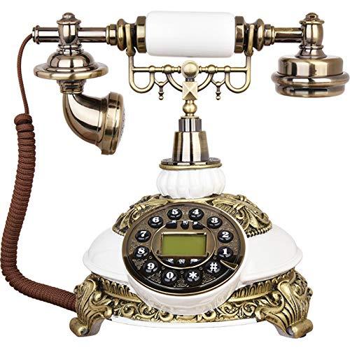 CXYY Retro Festnetztelefon,Push-Button Retro Festnetztelefon Desktop Hintergrundbeleuchtung Telefon, Europäisches Style Push Button Mit Display Für Home Office Hotel