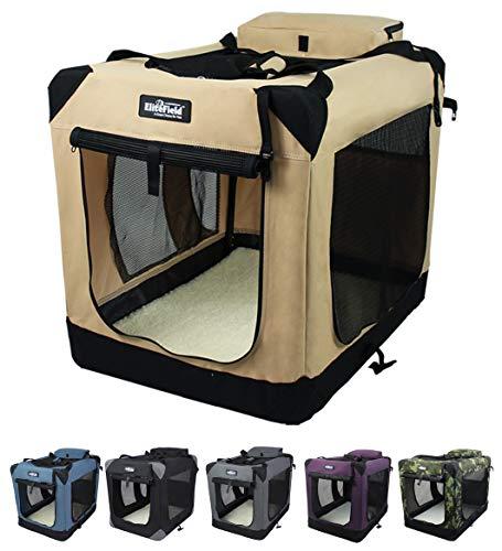 EliteField 3-Door Folding Soft Dog Crate, Indoor & Outdoor Pet Home, Multiple Sizes and Colors...