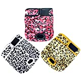 Paw Legend Reusable Female Dog Diapers(3 Pack, Leopard, X-Small)