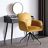 jiexi Silla de oficina de lujo ligero para el hogar o el estudio de la oficina del estudiante sedentario cómodo asiento de escritorio ancla sillas giratorias… (naranja)