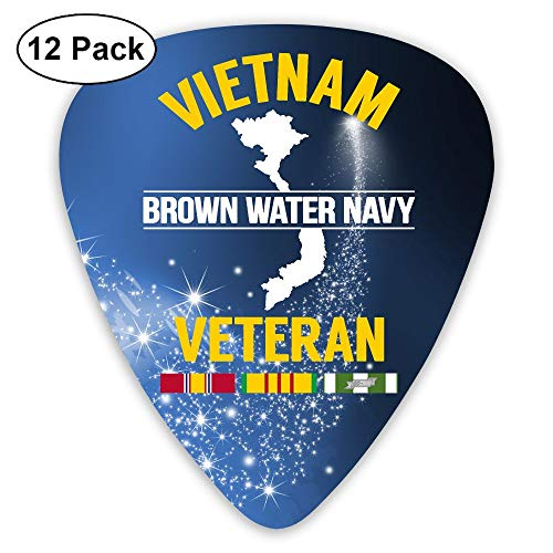 Brown Water Navy Vietnam Sampler Guitar Picks - 12 Pack Complete Gift Set For Guitarist Best Gift For Guitarist