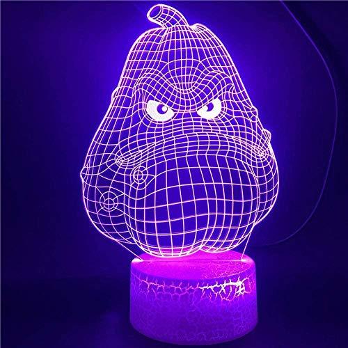 Tatapai Lámpara de ilusión 3D LED noche luz juego plantas vs. zombies squash base con control remoto dormitorio para niños regalo