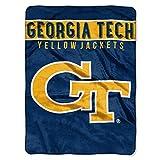 The Northwest Company Georgia Tech Yellow Jackets 'Basic' Raschel Throw Blanket, 60' x 80' , Blue
