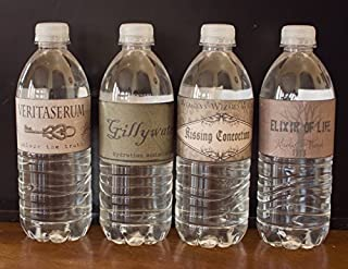 16 Harry Potter Vintage style WATERPROOF Water Bottle Labels Birthday Party Halloween Decor Decorations