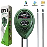 Dooppa 3-in-1 Soil pH Meter, Plant Soil Tester Kit with Moisture,Light and PH