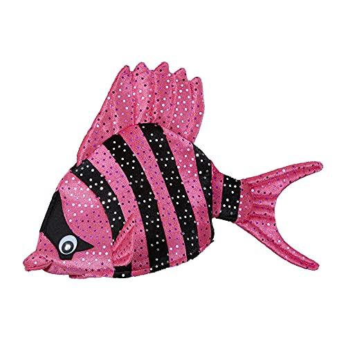 Widmann - Tropischer Fisch-Hut, Plüschhut mit Pailletten, Hut, Kopfbedeckung, Kostüm, Karneval, Mottoparty