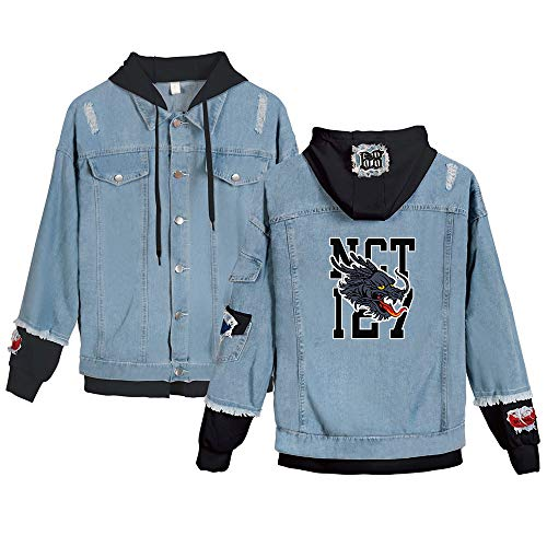 Landove NCT 127 Neo Zone Spijkerjas Unisex Denim Jacket Hoodie