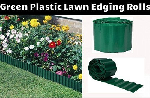 Garden Mile 15cm x 30m Green Garden Lawn Edging,Border Edging For Lawns,Borders,Flower Beds And Stones.Protect