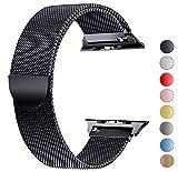 Tervoka Ersatzarmband kompatibel mit Apple Watch 40mm 38mm | Edelstahl Armband | Smartwatch Ersatzarmbänder mit Magnet kompatibel mit iWatch Series 5/4/3/2/1 Schwarz
